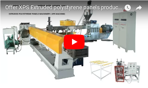 extruded polystyrene foam panels production line from China
