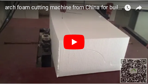 arch foam moldings cutting and coating machine from China