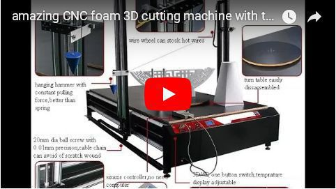 CNC foam 3D cutting machine with four axes independent control