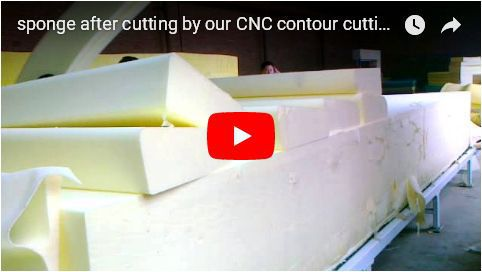 sponge from CNC contour cutting machine